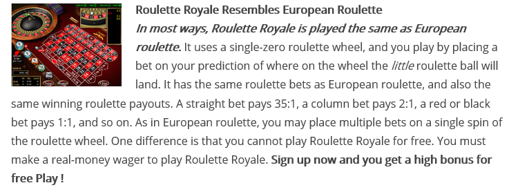 Roulette play